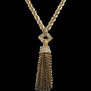 Dangling Tassels and Rhinestones Vintage Necklace