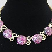 1/2 OFF!  Vintage Purple Confetti Lucite Choker Necklace