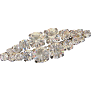 Petite Vintage Sparkling Clear Rhinestone Pin