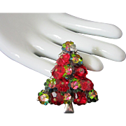 Watermelon and Cranberry Margarita Bead Christmas Tree Pin