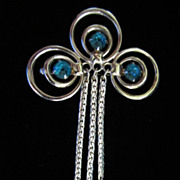 REDUCED ~ Vintage Art Deco Style Dangling Rhinestone Pin Brooch ~ 1/2 OFF!!!