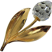 Enchanting Crystal Flower Pin Brooch ~ 1/2 OFF!