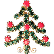 1/2 OFF! Petite and Sparkling Rhinestone Holiday Christmas Tree Pin