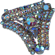 Deeply Dimensional Watermelon AB Rhinestone Brooch Pin ~ REDUCED!