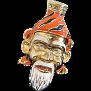 Enamel Mongolian Warlord Figural Pin