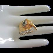 Tiny KJL, Kenneth J Lane Walrus Figural Pin