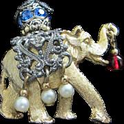 Napier Handsome 1960's Elephant Pin Brooch