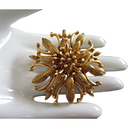 Florenza Gold Tone Layered Pin Brooch
