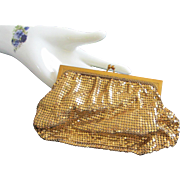 Vintage Whiting & Davis Gold Metal Mesh Clutch Purse ~ SOLD TO PAMELA