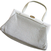 Vintage Whiting & Davis Creamy Beige Metal Mesh Purse