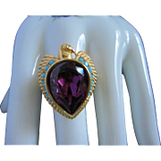 Elizabeth Taylor for Avon Egyptian Falcon Ring, Size 12 ~ 1/2 OFF!