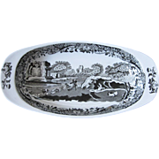 Copeland Spode Italian Celery Dish in Black and White