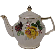 Vintage Sadler of England Floral Teapot with Roses