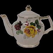 Vintage Sadler of England Floral Teapot with Roses
