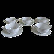Set of Bouillon Cups and Saucers A. Klingenberg / Charles Dwenger, Limoges 1890's - 1910