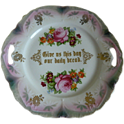 Beautiful Bavarian Lusterware Cake Plate Early 1900's