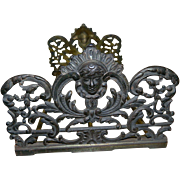Antique Art Nouveau Metal Expandable and Collapsible Bookends,  1880's - 1910's