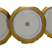 Antique Jean Pouyat Limoges Set of 6 Plates Made For The Glass Block Store Minneapolis, 1884 until 1890