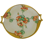 Josephine Hutschenreuther, Hand Painted,Artist Signed, H. Russell, Cake Plate, Bavaria, 1890 - 1910