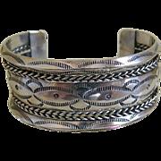 Heavy Sterling Silver Cuff Bracelet