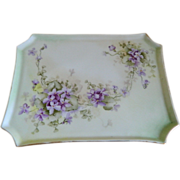 Lovely Guerin Limoges, France Hand Painted Dresser Tray, 1900 - 1932