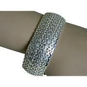 Beautiful Sterling Silver Filigree Bracelet, Italy