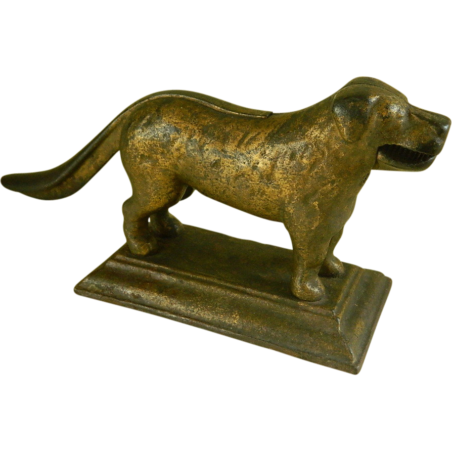 heavy cast iron dog nut cracker early 1900 39 s from ladylavenderantiques on ruby lane. Black Bedroom Furniture Sets. Home Design Ideas