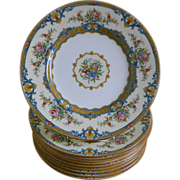 Minton, England, Set of 10  Plates, 1936 until 1939