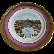 Set of 6 Florentine Plates From Nando's Restaurant, Palm Beach, Florida, 1970's