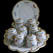 Vintage Limoges France Pots de Creme Set