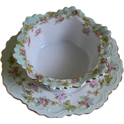 Antique M Z Austria Finger Bowl with Under Plate
