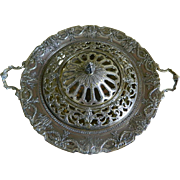 Antique Meriden Britannia Co. International Silver Co. Silver Plated Centerpiece with Frog Cover