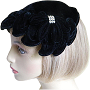 Vintage The Little Black Velvet Hat 1940's until 1950's
