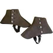 1920's Wool Spats Made Expressly for French Shriners & Urner