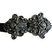 Antique Art Nouveau Metal Belt Buckle