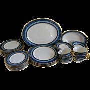 Vintage Theodore Haviland China Mosaic Cobalt Blue, New York 45 Piece Set - Red Tag Sale Item