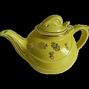 Vintage Hall Pottery  Yellow Teapot, 1950's