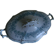 Antique China  W. H. Grindley and Co. England Oval Serving Bowl with Lid, 1897