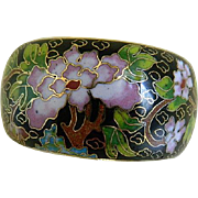 Vintage Cloisonne Wide Bangle Bracelet