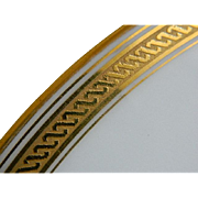 Grecian by Richard Ginori Italia Gold Encrusted Rim Plates, Set of 6 Made for Marshall Field and Company, Chicago