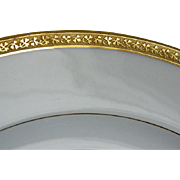Antique GDA Limoges France Gold Encrusted Plates Made for Burley and Company, Chicago, Set of 6