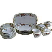 Vintage Epiag Royal Czechoslovakia Silver Maple China, Set of 29 Pieces