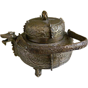 Early 20th Century Chinese Bronze Wine Vessel
