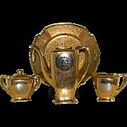 Vintage 24 Carat Gold Encrusted and Platinum Arzberg, Bavaria Coffee Serving Set, 1928 until 1946
