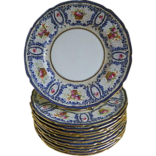 Antique Rare Royal Doulton, Robert Allen Studio, Plates, set of 12
