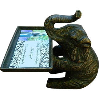 1920 or 1930's Business Card Elephant Holder