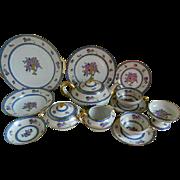 Unique C. Ahrenfeldt Limoges France, Set of 93 pieces, Decorated Expressly for Mrs. W. G. Gooding, 1894 until 1930