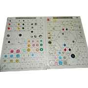 Two Large Vintage Display Cards for Selecting Button Styles made by Life