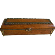 Antique Victorian Austrian Wood and Gilt Metal Women's Glove Box
