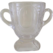 Art Deco Clear Glass Spoon Holder